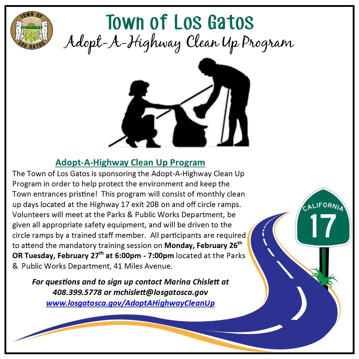 Adopt-A-Highway Clean Up Outreach LG Living